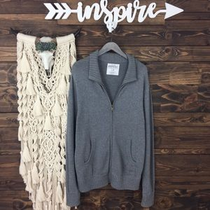 Aeropostale | Zip Up Pocket Knit Sweater Jacket